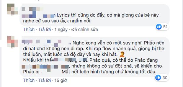 Pháo tiếp tục nhận chỉ trích dù giành vé đi tiếp tại King Of Rap: Cách rap một màu, giọng the thé nên đi hát hơn làm rapper? - Ảnh 4.