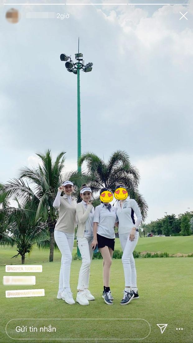 Cú đụng độ giữa Á hậu vs bạn gái thiếu gia ở sân golf, ai đẹp hơn hả các bạn? - Ảnh 1.