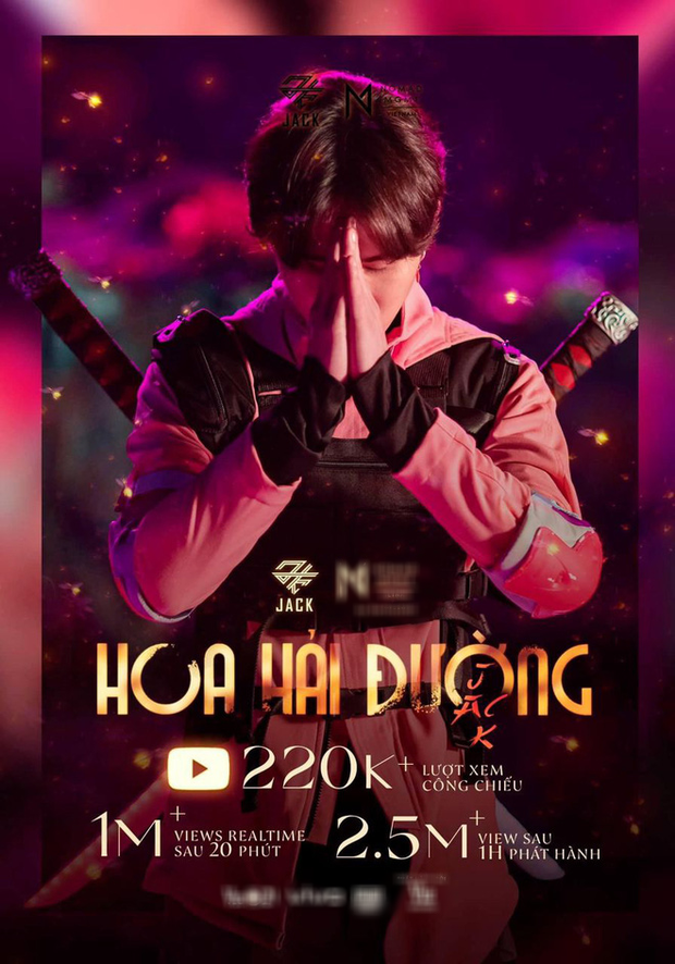 Lên sóng chưa lâu, Hoa Hải Đường của Jack đã debut #1 BXH Realtime HOT14, đạt gần 3 triệu view trên YouTube - Ảnh 3.