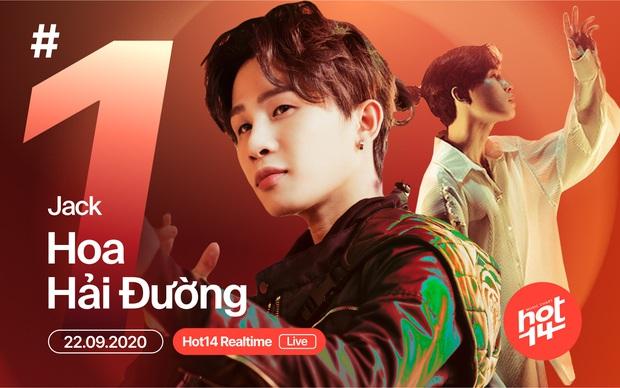 Lên sóng chưa lâu, Hoa Hải Đường của Jack đã debut #1 BXH Realtime HOT14, đạt gần 3 triệu view trên YouTube - Ảnh 5.