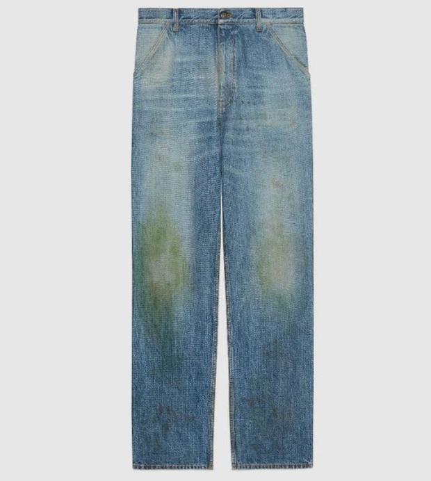 Gucci khiến dân tình cười xỉu khi ra mắt quần jeans phong cách xòe xe trời mưa giá 18 triệu - Ảnh 1.
