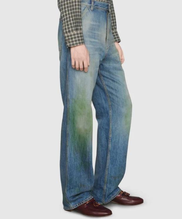 Gucci khiến dân tình cười xỉu khi ra mắt quần jeans phong cách xòe xe trời mưa giá 18 triệu - Ảnh 3.