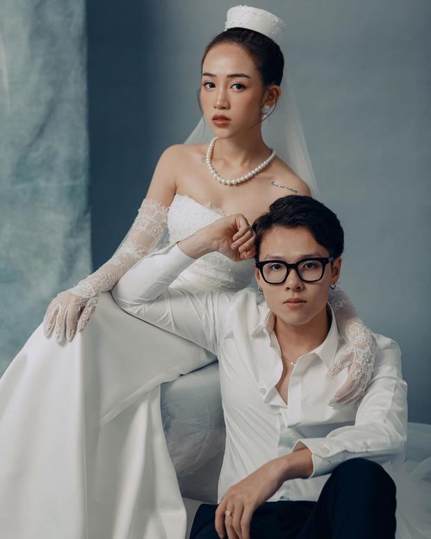 Con gái Minh Nhựa hé lộ ảnh cưới nhân kỷ niệm 1 năm lên xe hoa, ngắm 3 bộ váy mà trầm trồ - Ảnh 5.