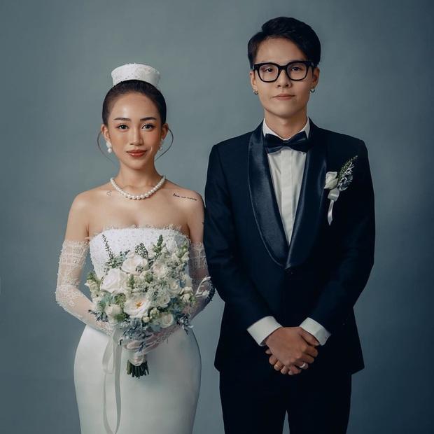 Con gái Minh Nhựa hé lộ ảnh cưới nhân kỷ niệm 1 năm lên xe hoa, ngắm 3 bộ váy mà trầm trồ - Ảnh 6.