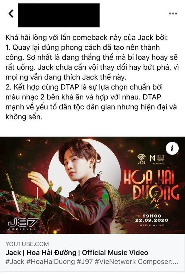 Netizen có ý kiến trái chiều về MV mới của Jack: Người ca ngợi là sản phẩm hay nhất, kẻ cho rằng rời xa K-ICM là bão tố? - Ảnh 3.