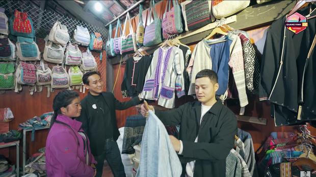 Đến Sapa nhưng chỉ mải mê đi... shopping, Hứa Vĩ Văn và Quang Vinh rinh về toàn quần áo thổ cẩm - Ảnh 5.