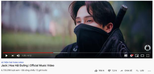 Sau 12 giờ, MV của Jack lọt top trending 5 quốc gia nhưng không vượt được Rap Việt để chiếm #1 YouTube Việt Nam - Ảnh 2.