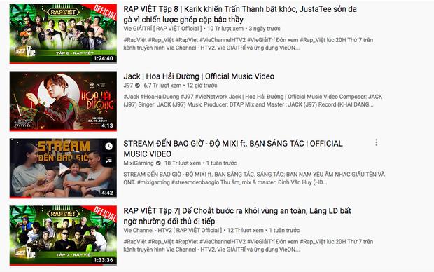 Sau 12 giờ, MV của Jack lọt top trending 5 quốc gia nhưng không vượt được Rap Việt để chiếm #1 YouTube Việt Nam - Ảnh 3.