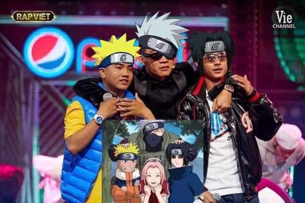 Rap Việt giờ không khác gì phim hoạt hình: Hết team Wowy lại đến học trò Karik thành nhân vật trong Doraemon - Ảnh 1.