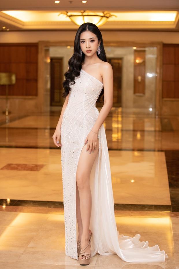 """""""Quân đoàn"""" Hoa hậu Á hậu lộng lẫy đổ bộ thảm đỏ họp báo HHVN 2020, Tiểu Vy đội vương miện 3 tỉ chiếm trọn spotlight - Ảnh 9."""
