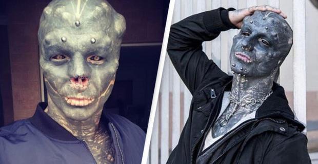 Anh chàng nổi tiếng vì đang đẹp trai thì lại đi cắt mũi, xẻ lưỡi cho giống người ngoài hành tinh - Ảnh 1.