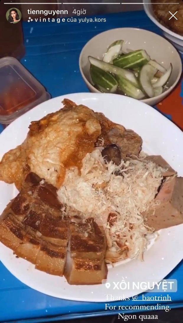"""Đến Hà Nội, Tiên Nguyễn """"dành hết tâm tư"""" cho việc ăn uống, còn khoe bữa ăn khuya đảm bảo ai nhìn cũng không thể cưỡng lại - Ảnh 5."""