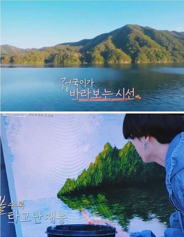 Jungkook khiến BTS trầm trồ về khả năng hội họa: Người gì vừa đẹp trai, hát hay, lại còn đa tài! - Ảnh 2.
