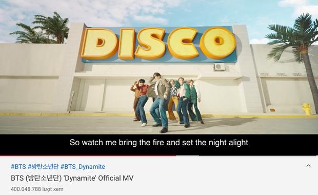Dynamite giúp BTS phá sâu kỷ lục MV đạt 400 triệu views nhanh nhất Kpop của BLACKPINK, nhưng lại thua đậm loạt sao Âu Mỹ? - Ảnh 1.
