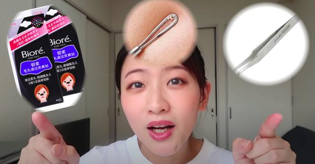Beauty blogger người Nhật dạy cách trị mụn đầu đen ngay từ bước rửa mặt, nhấn mạnh lột mụn làm da lão hóa cực nhanh - Ảnh 2.