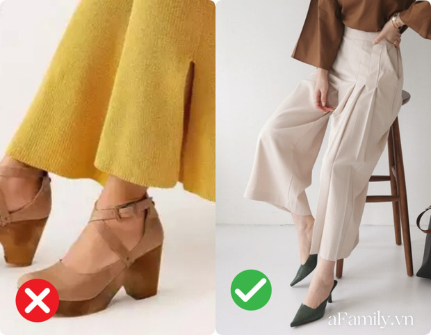 Diện quần ống rộng nếu không muốn dìm chiều cao tận đáy vực sâu thì nên tránh xa những kiểu giày dép này - Ảnh 2.