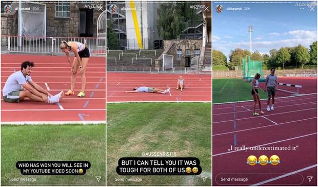 Nữ VĐV quyến rũ nhất thế giới khiến nhà vô địch World Cup kiệt sức nằm vật ra đường đua - Ảnh 1.