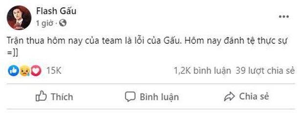 Team Flash thua sấp mặt FAP Esports, đội trưởng Gấu đăng status nhận lỗi - Ảnh 1.