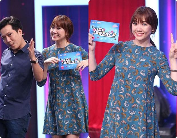 Làm MC, Hari Won có đôi ba lần diện đồ kém sang, tự dìm dáng ngay trên sóng truyền hình - Ảnh 2.