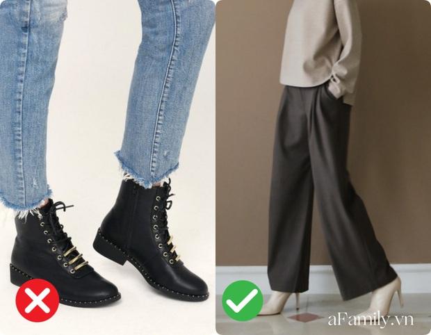 Diện quần ống rộng nếu không muốn dìm chiều cao tận đáy vực sâu thì nên tránh xa những kiểu giày dép này - Ảnh 6.