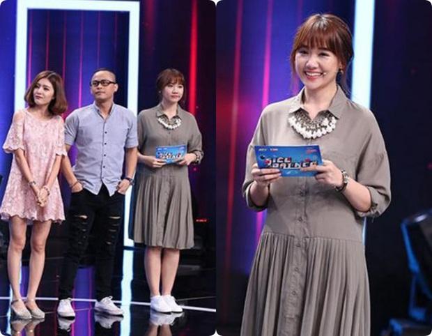 Làm MC, Hari Won có đôi ba lần diện đồ kém sang, tự dìm dáng ngay trên sóng truyền hình - Ảnh 3.