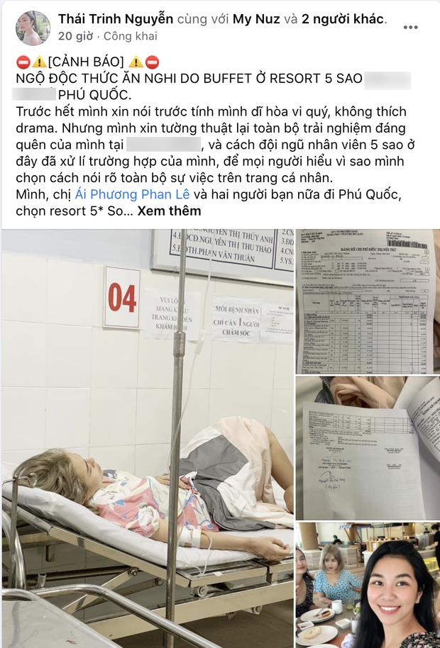 Trước thông tin Thái Trinh ngộ độc thực phẩm sau khi ăn buffet, resort 5 sao phản hồi như thế nào? - Ảnh 1.