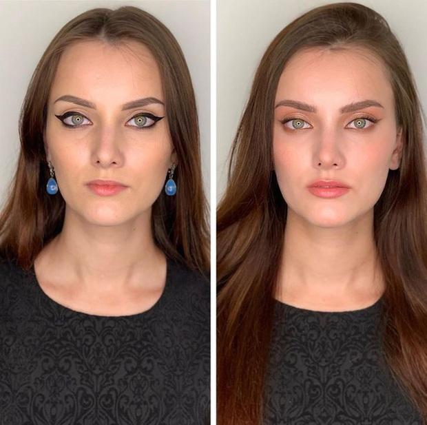 """Loạt ảnh khi các cô gái tự trang điểm và để chuyên gia """"ra tay"""" sẽ khiến bạn phải trầm trồ vì sự biến đổi kỳ diệu của gương mặt - Ảnh 2."""