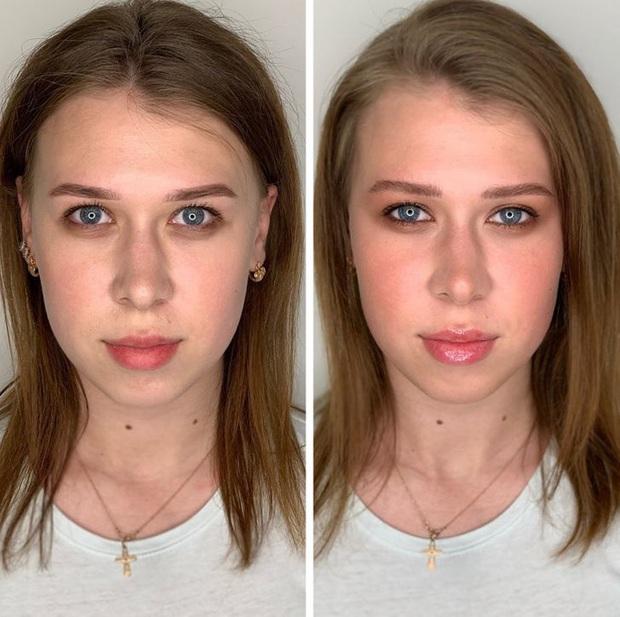 """Loạt ảnh khi các cô gái tự trang điểm và để chuyên gia """"ra tay"""" sẽ khiến bạn phải trầm trồ vì sự biến đổi kỳ diệu của gương mặt - Ảnh 3."""