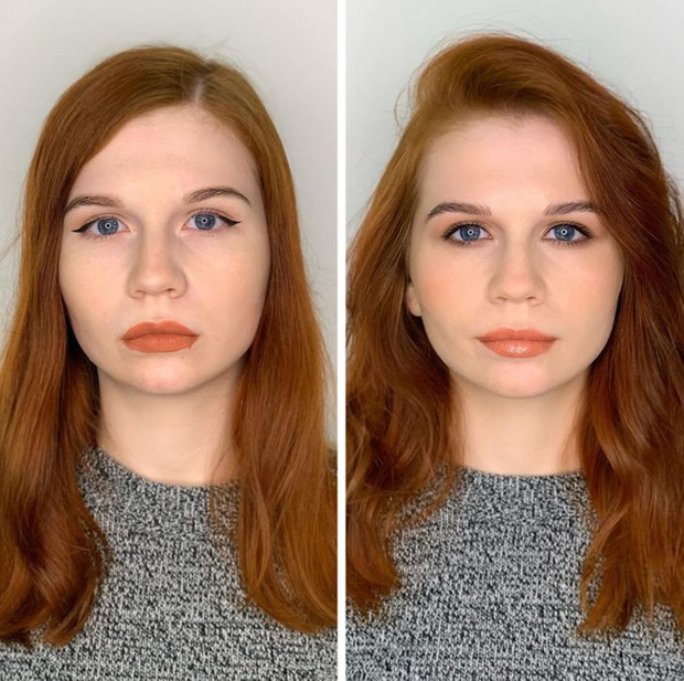 """Loạt ảnh khi các cô gái tự trang điểm và để chuyên gia """"ra tay"""" sẽ khiến bạn phải trầm trồ vì sự biến đổi kỳ diệu của gương mặt - Ảnh 5."""