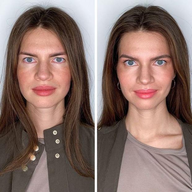 """Loạt ảnh khi các cô gái tự trang điểm và để chuyên gia """"ra tay"""" sẽ khiến bạn phải trầm trồ vì sự biến đổi kỳ diệu của gương mặt - Ảnh 8."""