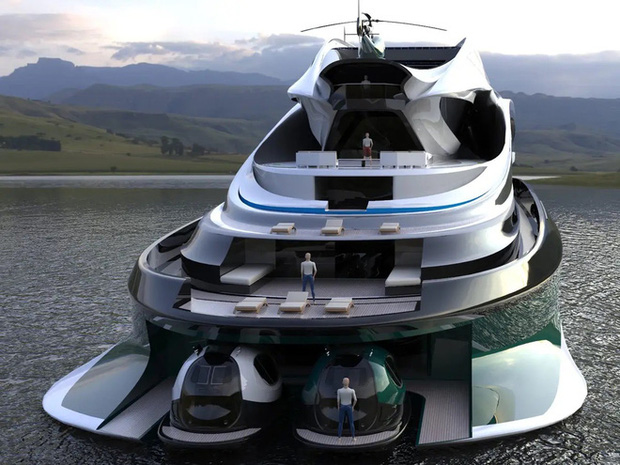 Siêu du thuyền 500 triệu USD này lấy cảm hứng từ anime và có thiết kế trông như một chú thiên nga - Ảnh 25.
