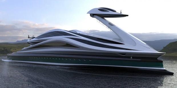 Siêu du thuyền 500 triệu USD này lấy cảm hứng từ anime và có thiết kế trông như một chú thiên nga - Ảnh 29.