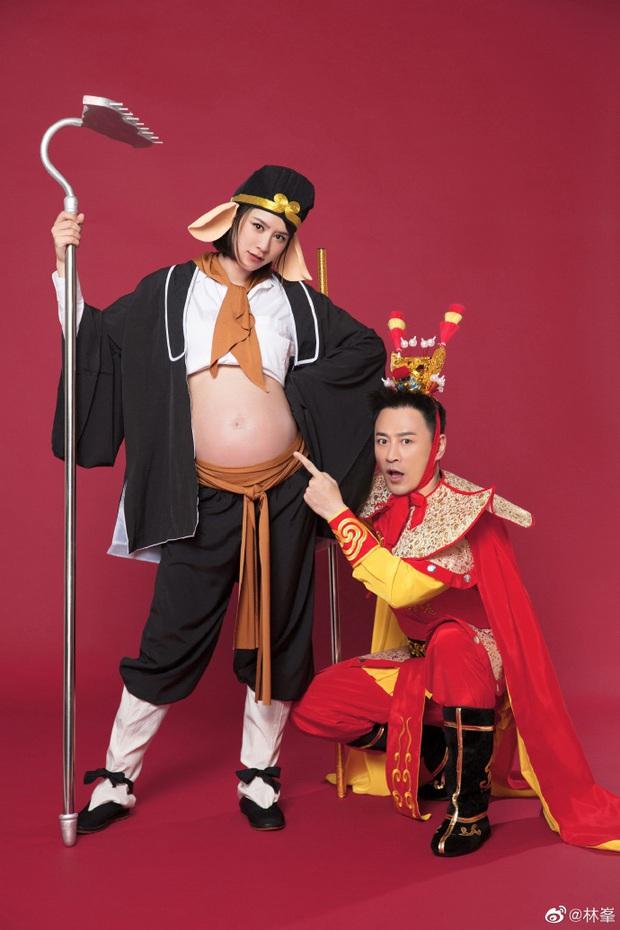 Tài tử Lâm Phong và bà xã cuối cùng đã đón bé cưng đầu lòng, bộ ảnh gia đình cosplay Tôn Ngộ Không siêu cute gây sốt - Ảnh 4.