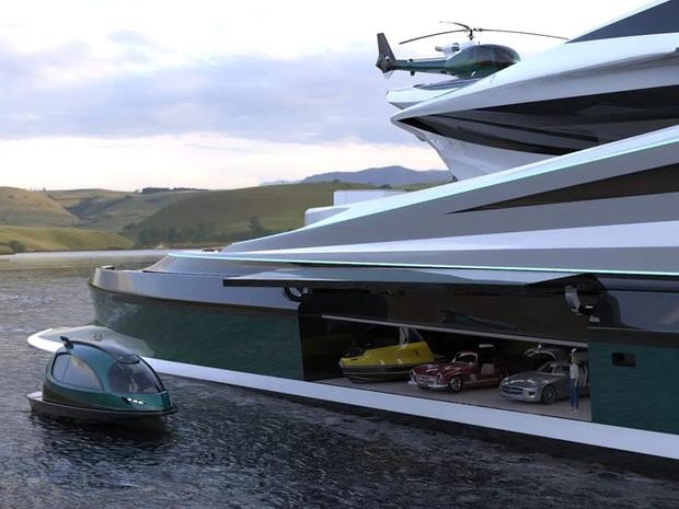Siêu du thuyền 500 triệu USD này lấy cảm hứng từ anime và có thiết kế trông như một chú thiên nga - Ảnh 11.