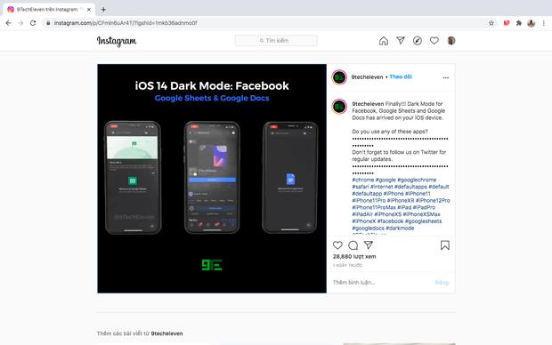 iOS 14 cho phép bật Dark Mode trên ứng dụng Facebook - Ảnh 1.