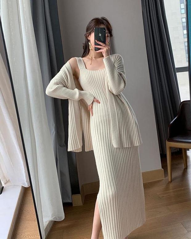 Trời lại mát lạnh tê tái, mua váy len tăm là chuẩn bài lắm đây này, vừa đủ ấm vừa sexy, lại cực kỳ chuẩn trend - Ảnh 7.