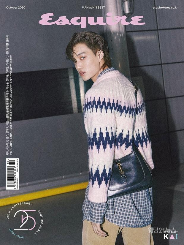 Kai (EXO) gây choáng với bộ ảnh tạp chí mới: Diện áo croptop khoe eo, mặc váy cùng phụ kiện bánh bèo sao cứ sai sai - Ảnh 2.