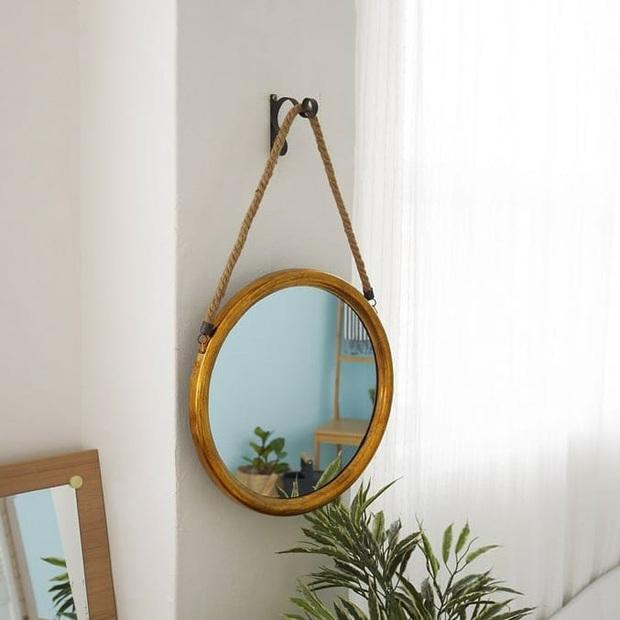 Gương tròn treo tường: Không chỉ lấp đầy khoảng trống mà còn khiến nhà xinh đẹp xịn chuẩn Hàn - Ảnh 3.