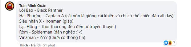 Netizen Việt hí hửng lập đội siêu anh hùng Việt: Ròm và Hai Phượng góp mặt, Vinaman mới nhú của Ngô Thanh Vân cũng có tên - Ảnh 12.