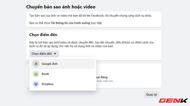 Cách chuyển toàn bộ ảnh từ Facebook sang Google Photos để phòng trường hợp bị khóa tài khoản - Ảnh 7.