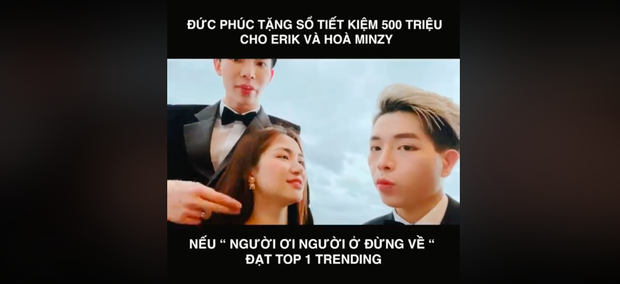 Erik kêu gọi cày MV Đức Phúc lên #1 trending để hưởng xái sổ tiết kiệm 500 triệu, Bích Phương share liền tay còn khen dễ thương - Ảnh 10.