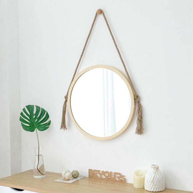 Gương tròn treo tường: Không chỉ lấp đầy khoảng trống mà còn khiến nhà xinh đẹp xịn chuẩn Hàn - Ảnh 12.