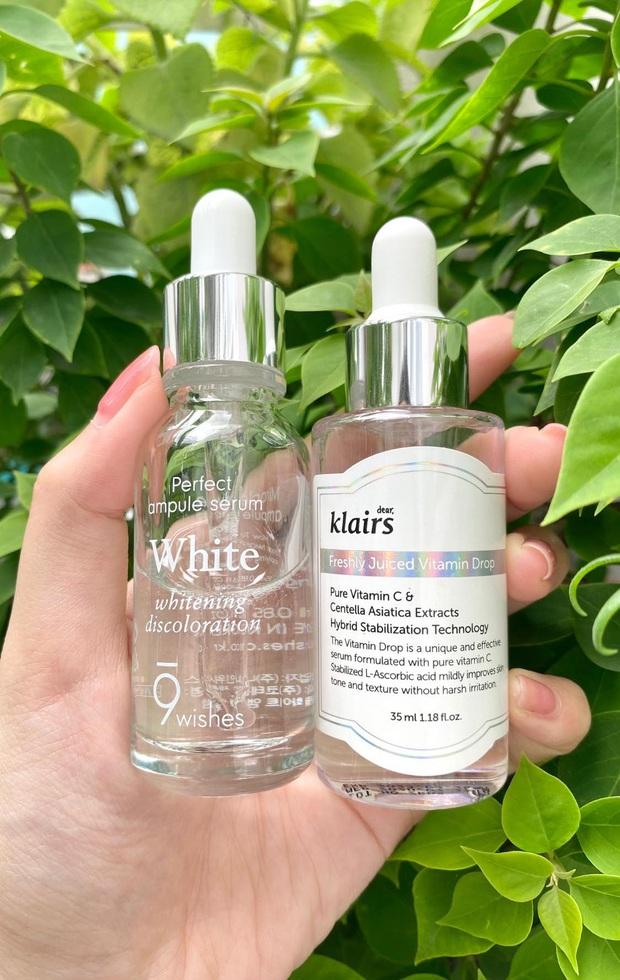 Cô nàng review 2 loại serum làm trắng da đủ tiêu chí ngon - bổ - rẻ cho những nàng mới bập bẹ skincare - Ảnh 2.