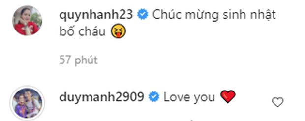Quỳnh Anh lần đầu đăng ảnh gia đình nhỏ đầy hạnh phúc, Duy Mạnh chỉ nói hai từ đơn giản cũng khiến fan tan chảy vì quá tình tứ  - Ảnh 2.