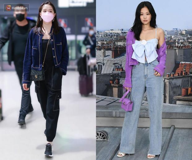 Đụng áo Jennie đã mặc từ 1 năm trước, Quan Hiểu Đồng lên đồ an toàn vẫn bị chê như mặc hàng chợ - Ảnh 8.