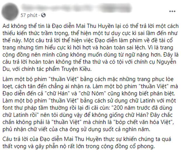 Đạo diễn KIỀU khiến cộng đồng sôi máu với phản hồi vụ lùm xùm teaser: Chữ Hán và Nôm giống nhau, lại còn là phim thuần Việt? - Ảnh 4.