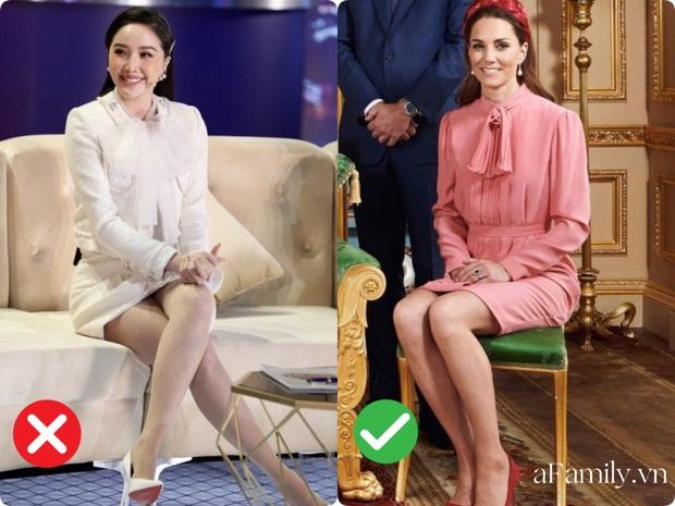 Cách ngồi khi diện váy ngắn: Bảo Thy, Hương Giang suýt hớ hênh, kỹ năng thượng thừa phải kể đến Công nương Diana - Ảnh 8.