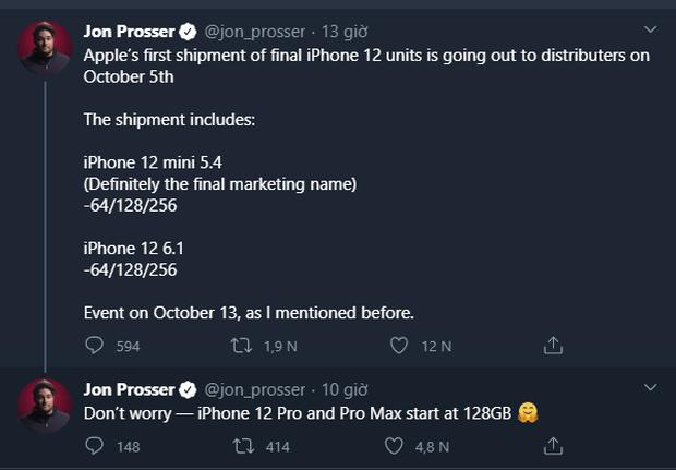 Nóng: iPhone 12 và 12 Mini sẽ được gửi đến các cửa hàng ngay ngày 5/10 tới - Ảnh 2.