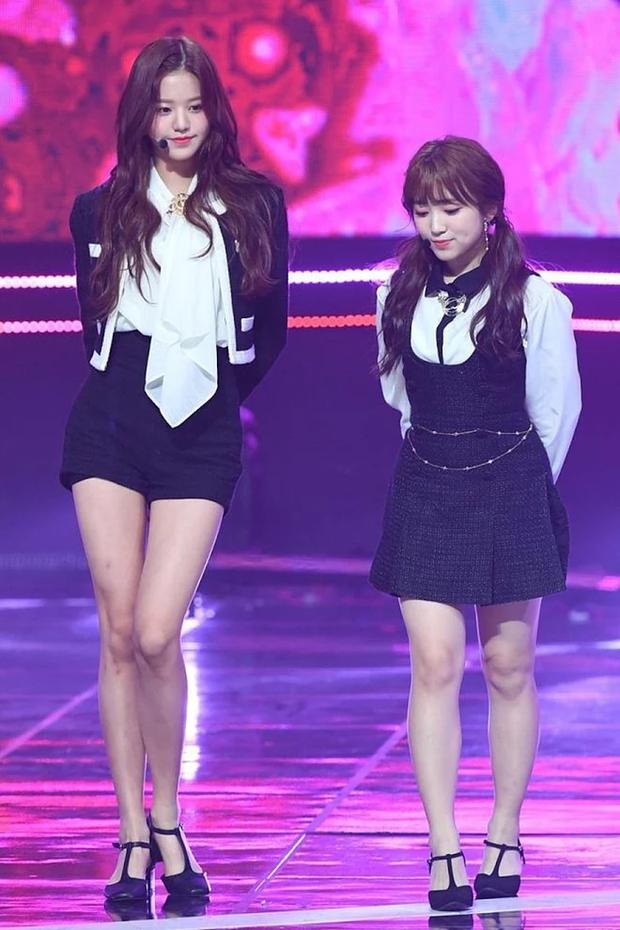 Bi hài nữ idol 16 tuổi có chiều cao quá khủng: Như người khổng lồ bên đồng đội, phải cúi xuống cho staff nam đỡ cực - Ảnh 4.