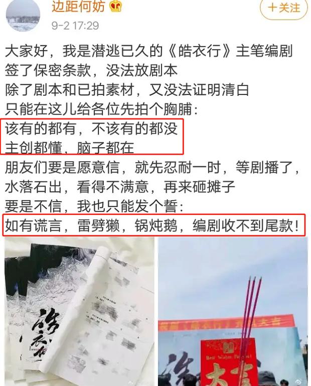 Bị ném đá chuyện đưa nữ phụ đam mỹ lên làm nữ chính ngôn tình, biên kịch Hạo Y Hành phải lên tiếng thề độc - Ảnh 5.